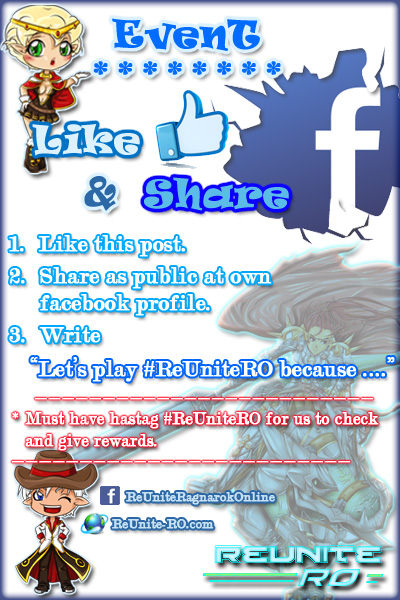 like and share events